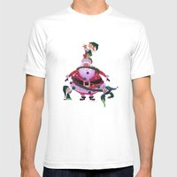 Decorating Santa Mens Fitted Tee White SMALL