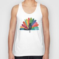 Whimsical Peacok Unisex Tank Top