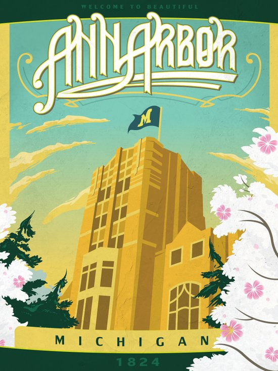 Ann Arbor Union Art Print