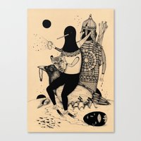 The Thief, The Poet And … Canvas Print