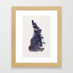 Fox from the City Framed Art Print
