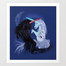 Starwars with Unicorns  Art Print