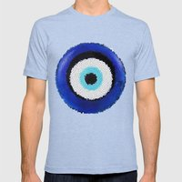 Blue Eye Luck Mens Fitted Tee Tri-Blue SMALL