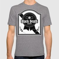 Black Death Ribbon Mens Fitted Tee Tri-Grey SMALL