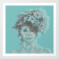 Art Prints featuring LOOK AT ME by Absentis Designs