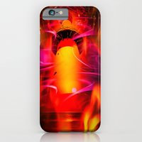 iPhone Cases featuring Lighthouse romance by Walter Zettl