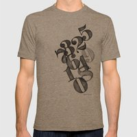 Watercolornumbers Mens Fitted Tee Tri-Coffee SMALL