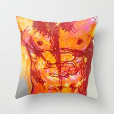 male torso summer Throw Pillow