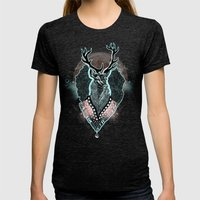 Wind:::Deer Womens Fitted Tee Tri-Black SMALL