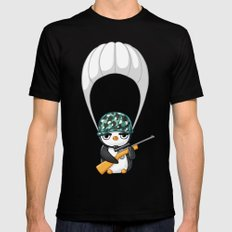 Commando SMALL Mens Fitted Tee Black
