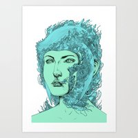 Transformation Portrait … Art Print