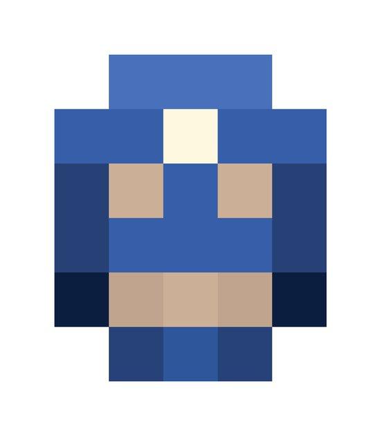 hero pixel white blue Canvas Print