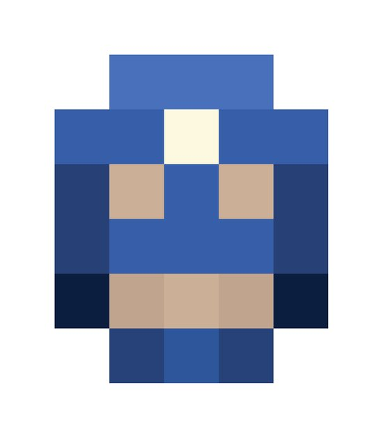 hero pixel white blue Art Print
