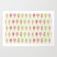 Ice Cream!!!  Art Print
