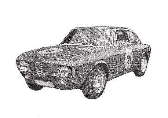 Alfa Romeo GT 1300 junior Art Print