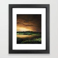 Light Polluted Lake Framed Art Print
