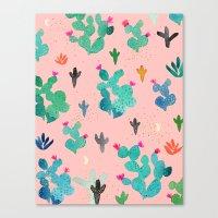 Cactus Desert Pink Dusk … Canvas Print