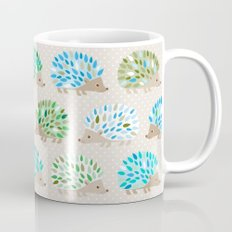 Hedgehog polkadot in green and blue Mug