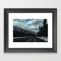 Driving In The North Cas… Framed Art Print