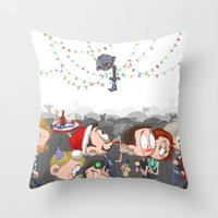 There are CHRISTMAS strings on me... Throw Pillow