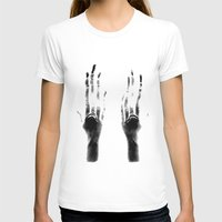 Fingers #1 Womens Fitted Tee White SMALL