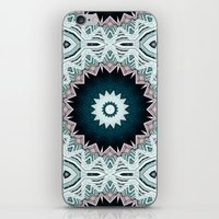 Blue Green Buildings Mandala iPhone & iPod Skin