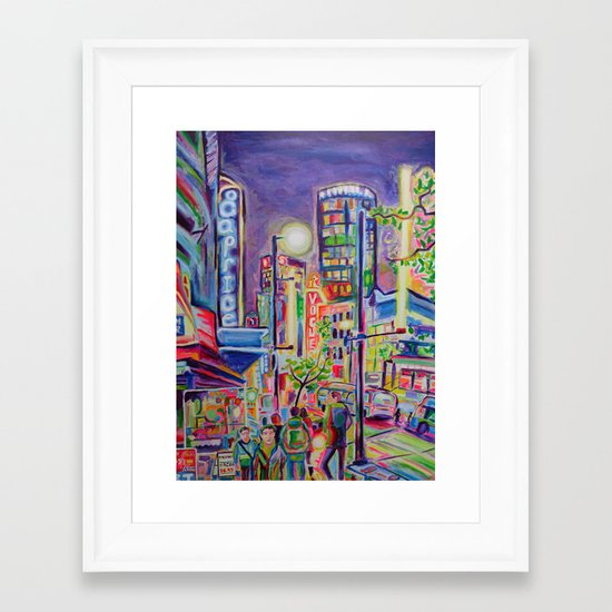 Granville At The Warehouse, Vancouver Framed Art Print
