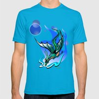 Comet Dragon Mens Fitted Tee Teal SMALL