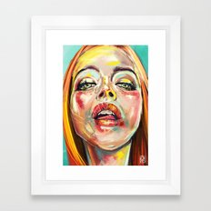 Summer Glowing Framed Art Print