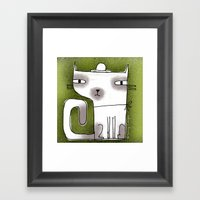 SQUARE TAIL Framed Art Print