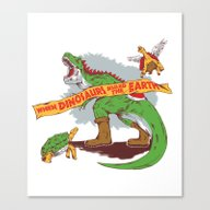 When Dinosaurs Ruled The… Canvas Print