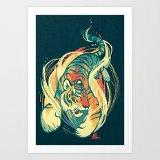 Astral Tiger Art Print