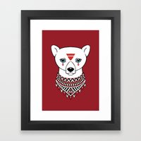 Tribal Bear Framed Art Print