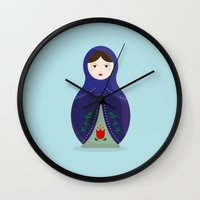 MATRYOSHKAS SERIES - OLESYA Wall Clock
