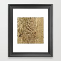 Unrefined Wood Grain Framed Art Print