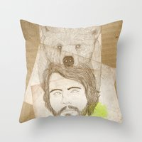 mr.bear-d Throw Pillow