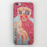 Lady Beard iPhone & iPod Skin