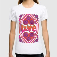Psychedelic Love Womens Fitted Tee Ash Grey SMALL