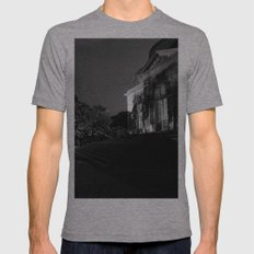Castle by night Mens Fitted Tee Athletic Grey SMALL