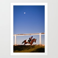 A rider and a horse Art Print