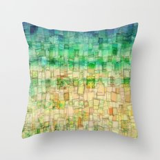 Blue Sea Mosaic Throw Pillow