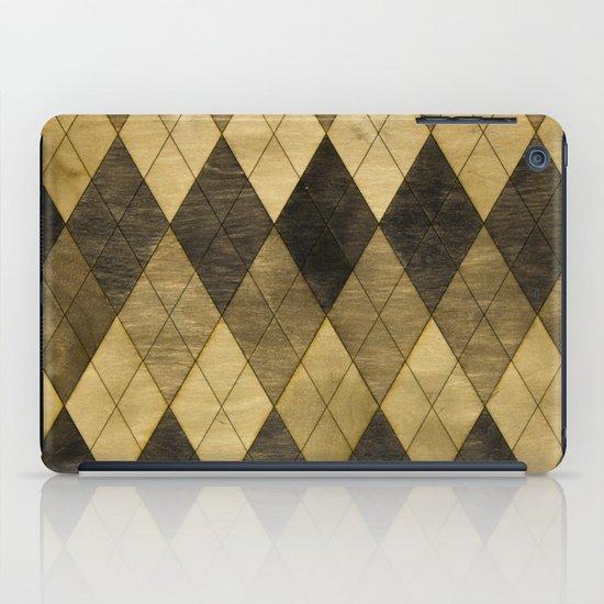 Wooden big diamond iPad Case