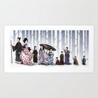 Family Stroll Art Print