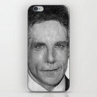 Ben Stiller Traditional Portrait Print iPhone & iPod Skin