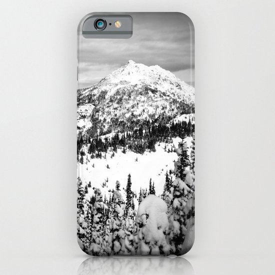 Snowy Mountain Peak Black and White iPhone & iPod Case