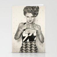 Pattern Girl Stationery Cards