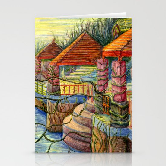 Pulling You In - Colored Pencil Drawing Stationery Card