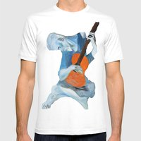 Picasso's Blue Man  Mens Fitted Tee White SMALL