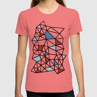 Segment Red and Blue Womens Fitted Tee Pomegranate SMALL