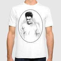 DARK COMEDIANS: Seth Rog… Mens Fitted Tee White SMALL